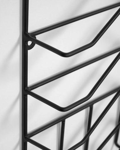 Porte-revues mural Yamine métal noir 33 x 45 cm