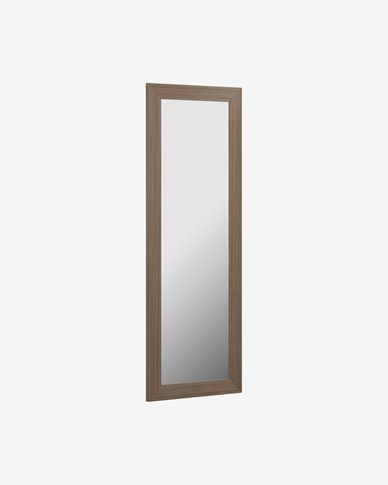 Yvaine walnut finish mirror 52,5 x 152 cm