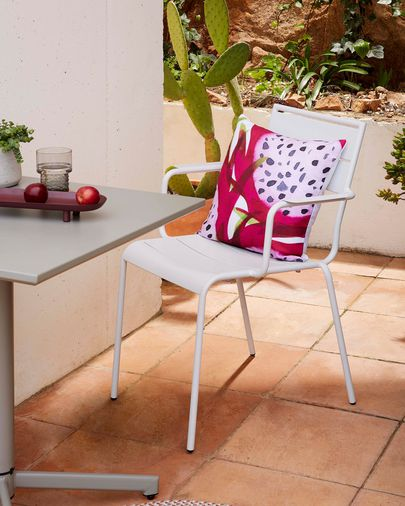Silla Advance blanco mate acero galvanizado