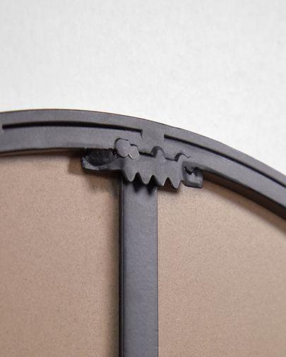 Mirall amb penjadors Vianela 70 x 51 cm negre
