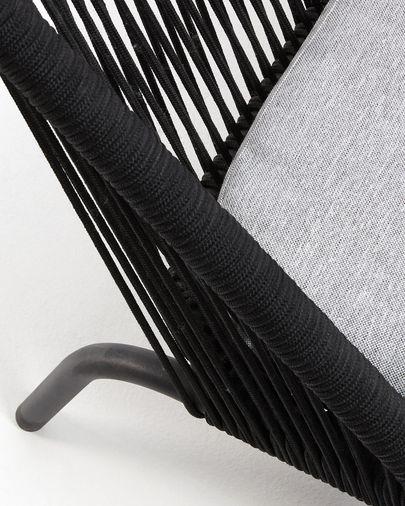 Sofá Shann 2 plazas cuerda negro 121 cm