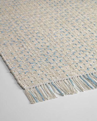 Tappeto Nur 100% cotone blu  70 x 140 cm blu
