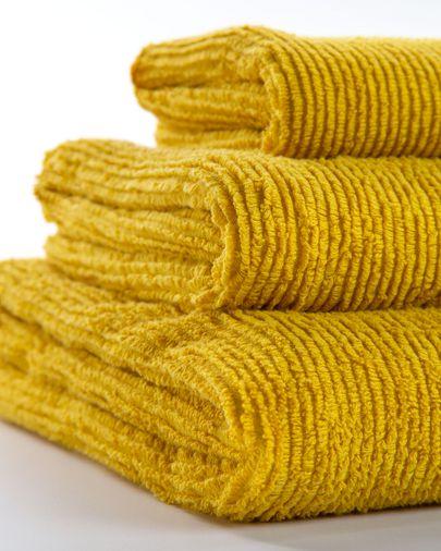 Miekki small bath towel mustard