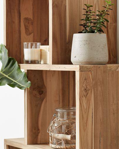 Estante Aroba 55 x 132 cm madeira maciça de teca reciclada
