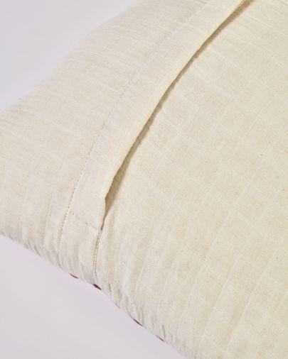 Funda cojín Avidal 100% algodón y rayas terracota 45 x 45 cm