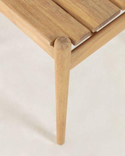 Mesa auxiliar Simja 47 x 47 cm madera maciza de eucalipto