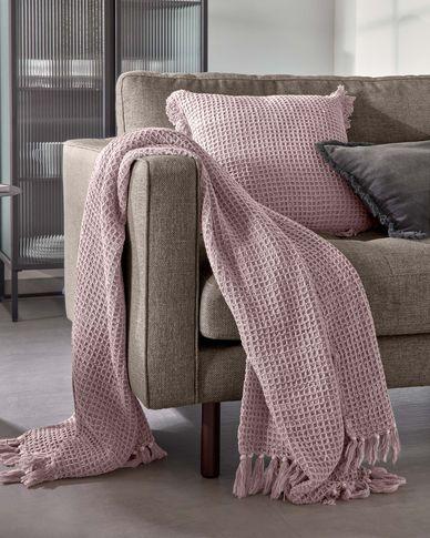Shallow dark pink blanket 130 x 170 cm
