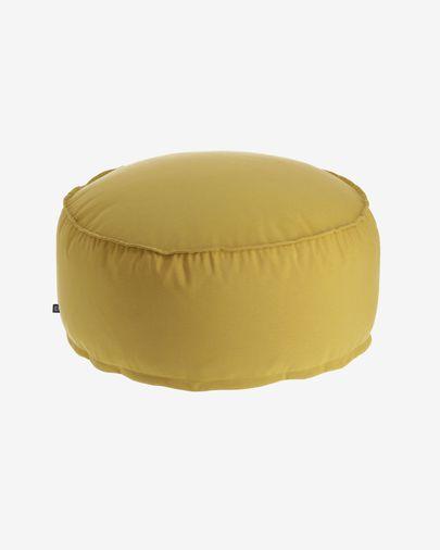 Pouf rond Nedra Ø 70 cm moutarde