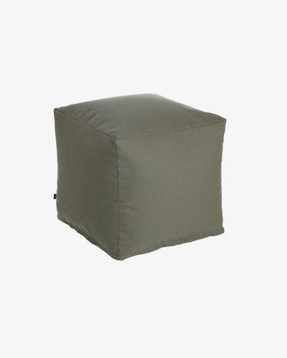 Squared 50 x 50 cm Grey Nedra pouf