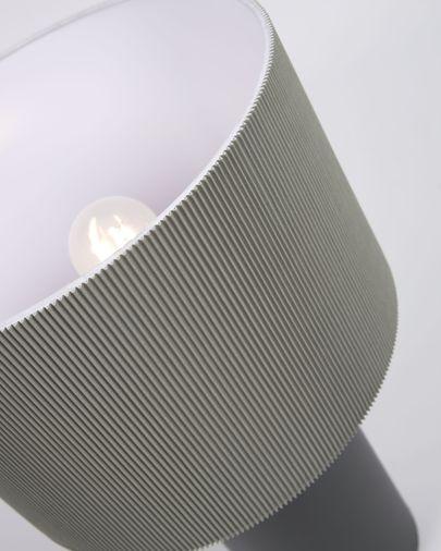Lampe de table Domicina en métal peint noir et gris