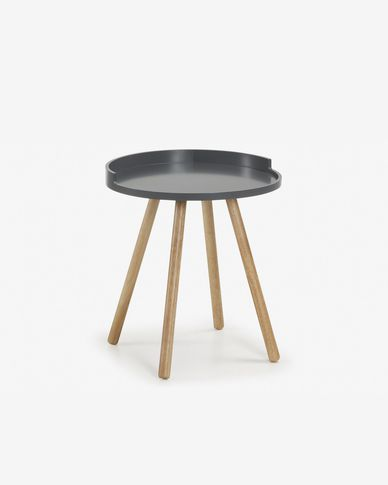 Table d'appoint Kurb Ø 46 cm gris