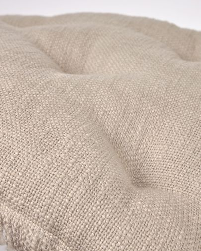 Almofada para cadeira Brunela 100% algodão bege 45 x 45 cm
