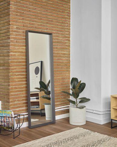 Nerina spiegel brede omlijsting donkere afwerking 52 x 152 cm