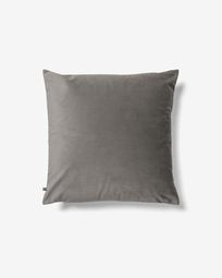 Lita cushion cover 45 x 45 cm grey velvet