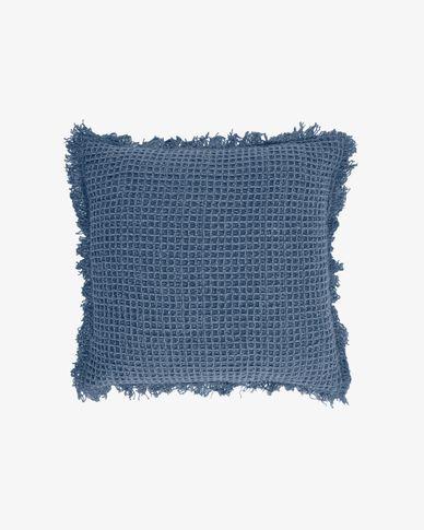 Kussenhoes Shallow 100% katoen in blauw 45 x 45 cm