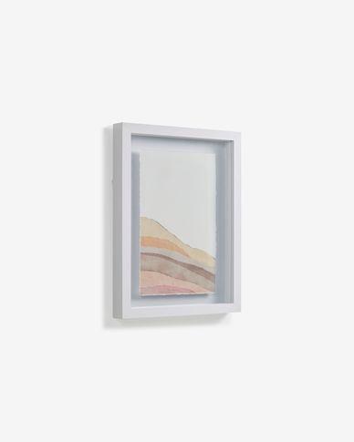 Schilderij Nacira met veelkleurige lijnen 50 x 70 cm