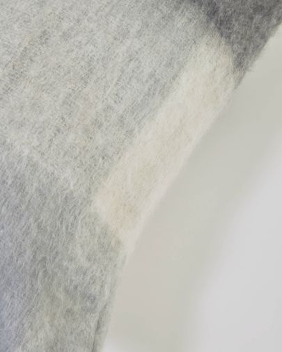 Funda cojín Catarina cuadros blancos y grises 45 x 45 cm