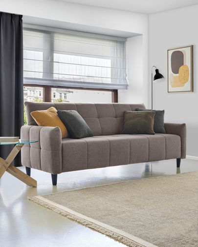 Sofá cama Nury 205 cm gris