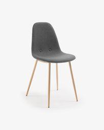 Cadira Yaren gris fosc
