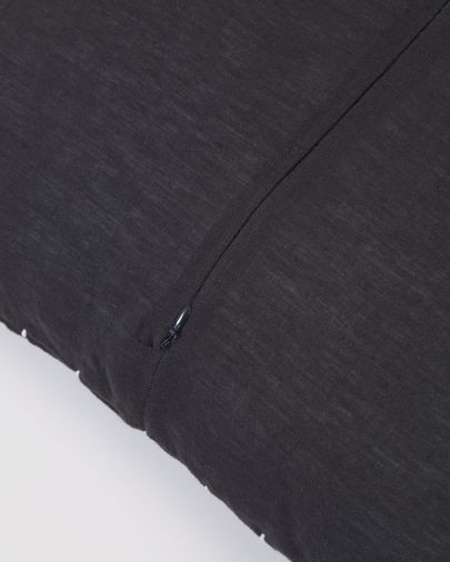 Funda cojín Ellmina 100% lino negro 45 x 45 cm