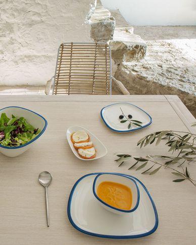 Miska Odalin mała porcelana biało-niebieska
