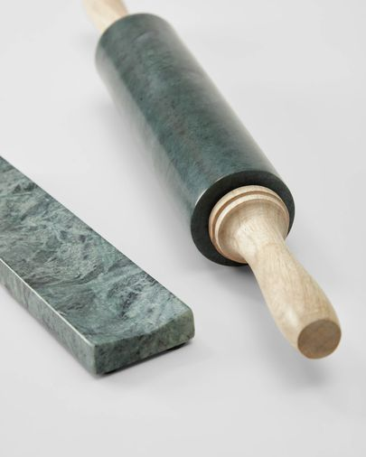 Vestrawood and green marble rolling pin