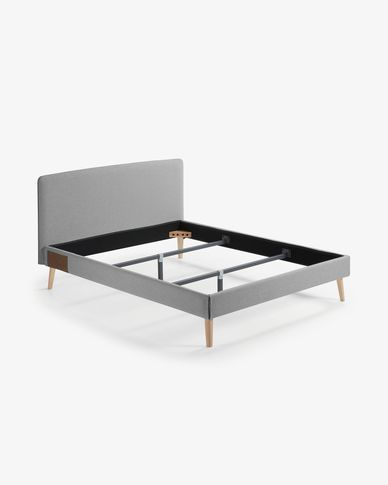Fodera letto Dyla 160 x 200 cm grigio