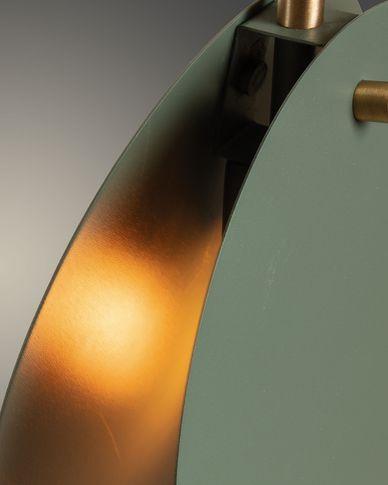 Lámpara de techo Monica de acero con acabado verde
