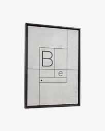Tableau Myrthe 50 x 70 cm blanc
