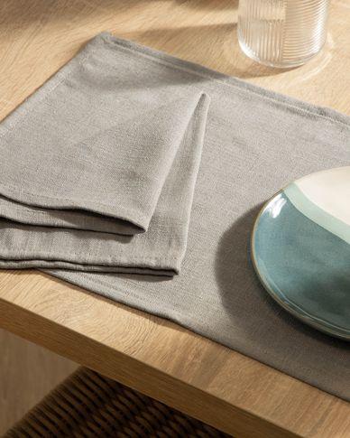 Set Samay van 4 servetten grijs