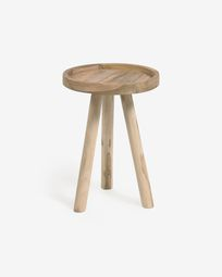 Glenda solid teak side table, Ø 35 cm
