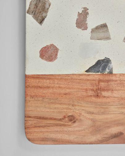 Plateau Temira en bois et terrazzo multicolore