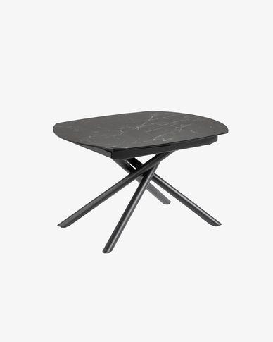 Table extensible Yodalia 130 (190) x 100 cm plateau grès cérame