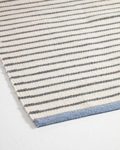 Alfombra exterior Catiana de PET rayas gris 60 x 90 cm