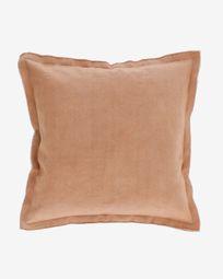 Housse de coussin Achebe 100% coton marron 60 x 60 cm