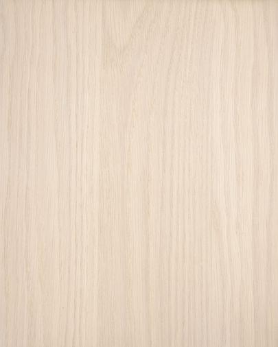Mesita de noche Nunila chapa fresno y patas de madera maciza de fresno 40 x 47 cm