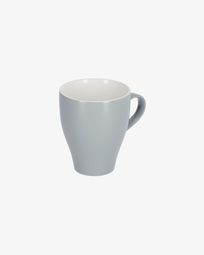 Sadashi porcelain mug in grey and white