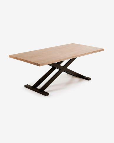 Table Tiva 160 x 90 cm pattes croisées