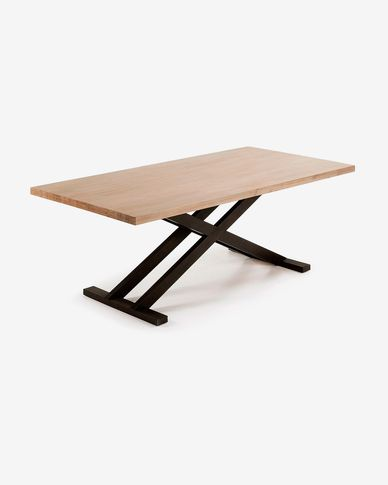 Tavolo Tiva 160 x 90 cm gambe incrociate
