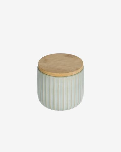 Bote pequeño Itziar de cerámica verde