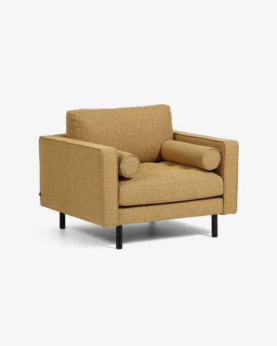 Debra fauteuil mosterd
