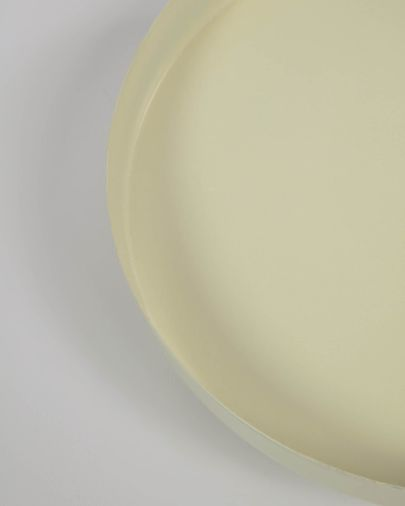 Charisse beige metal table centrepiece