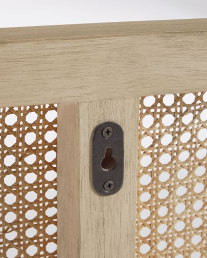 Capçal Rexit fusta massissa i xapa mindi amb ratan 163 x 65 cm