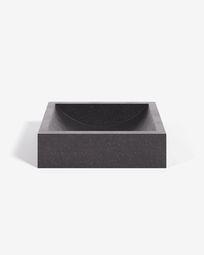 Kuveni opzetwastafel in zwart terrazzo 40 x 45 cm