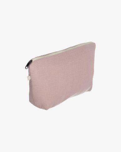 100% organic cotton (GOTS) Breisa Wash Bag in pink