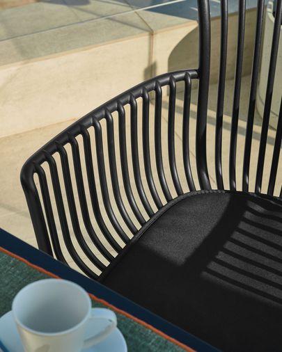 Surpika Outdoor-Stuhl in schwarz