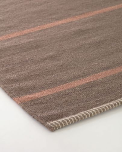 Caliope wool and cotton rug in brown 160 x 230 cm