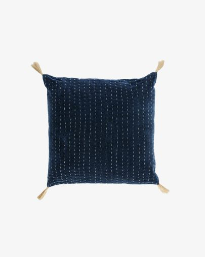 Berenice blue corduroy cushion cover 45 x 45 cm
