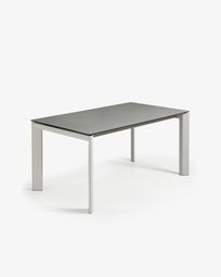 Tavolo allungabile Axis 140 (200) cm porcellanato finitura Hydra Piombo gambe grigio