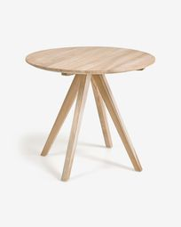 Maial round solid teak table, 90 cm